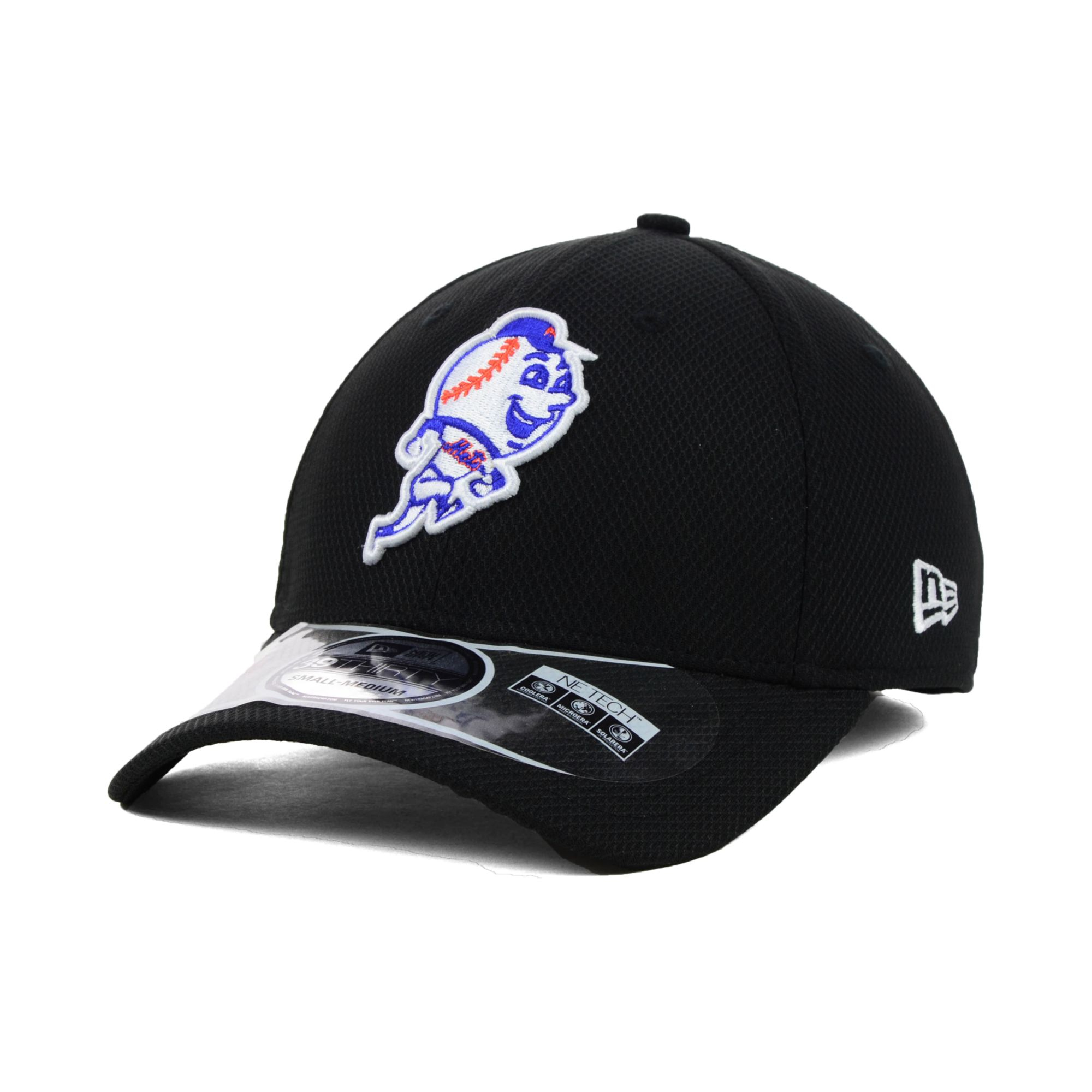 fc360e29e048a5 KTZ New York Mets Mlb Diamond Era Black 39thirty Cap in Black for ...