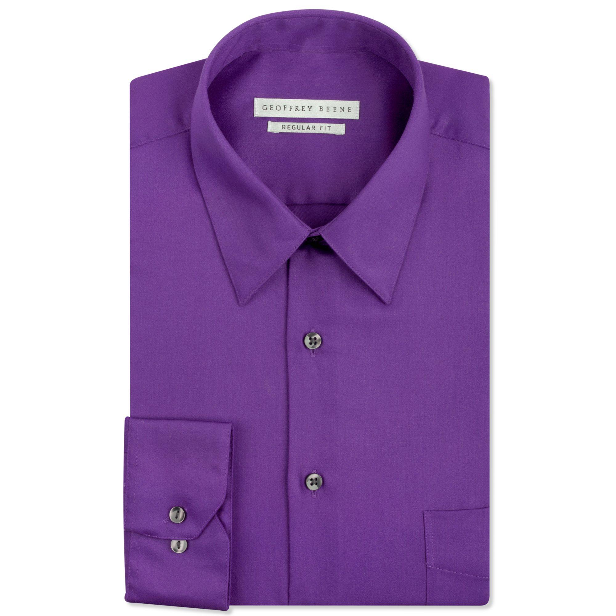 8b92e6d4518 Geoffrey Beene Pinpoint Fitted Dress Shirts Button Down - DREAMWORKS