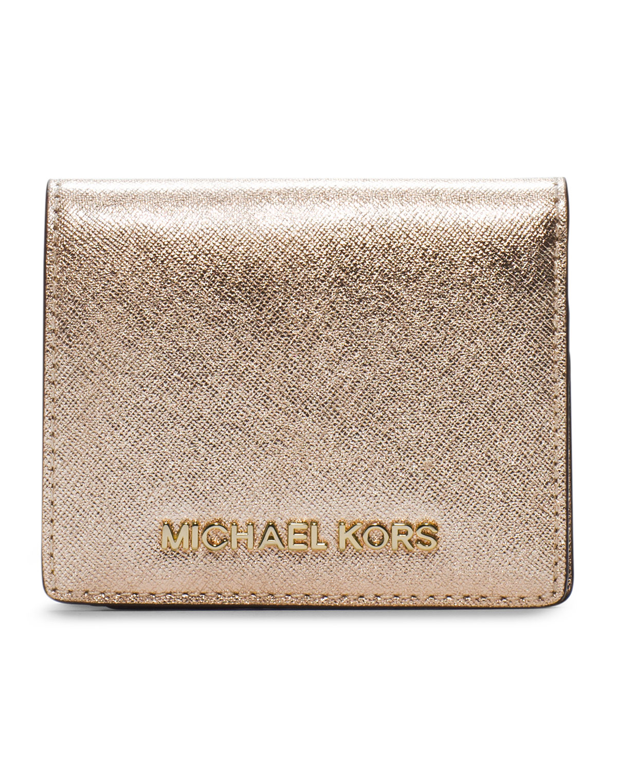 9b6221bc4fff Lyst - MICHAEL Michael Kors Jet Set Travel Flap Card Holder in Pink
