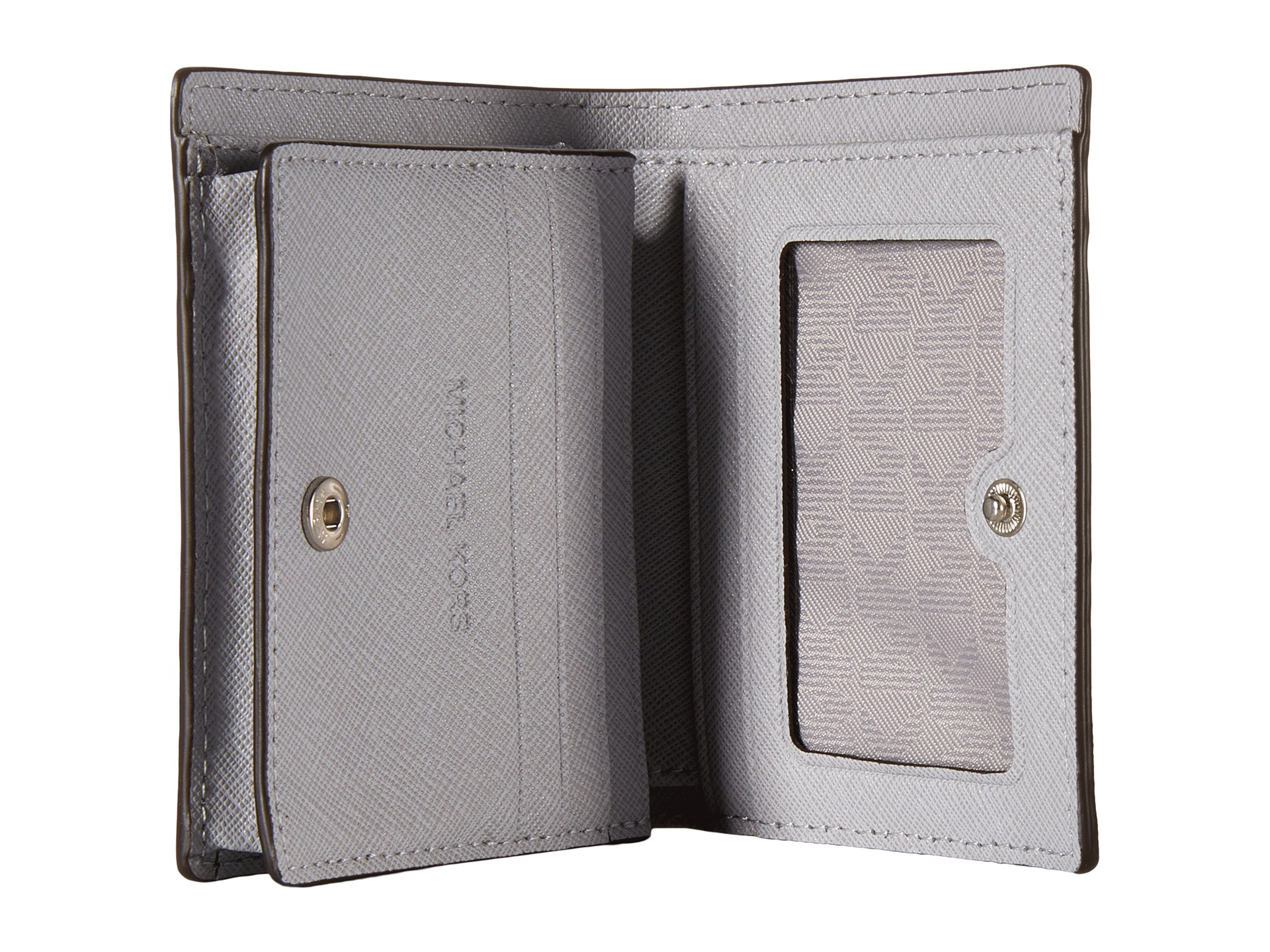 dac6c91cd58a4 Lyst - MICHAEL Michael Kors Jet Set Travel Flap Card Holder in Metallic