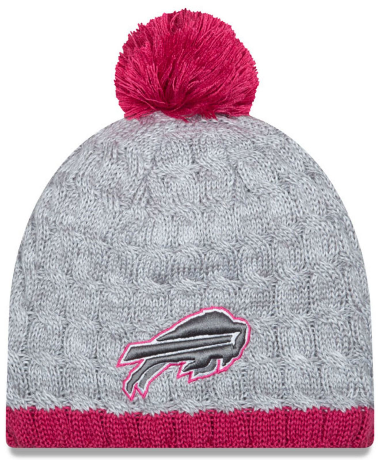 KTZ Women's Buffalo Bills Breast Cancer Awareness Knit Hat in Pink