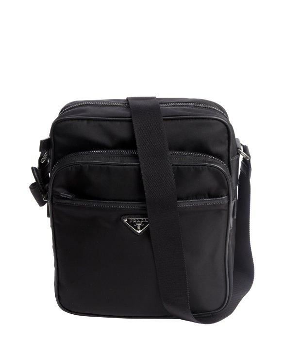 Prada Black Nylon Four Pocket Travel Messenger Bag in Black for ...