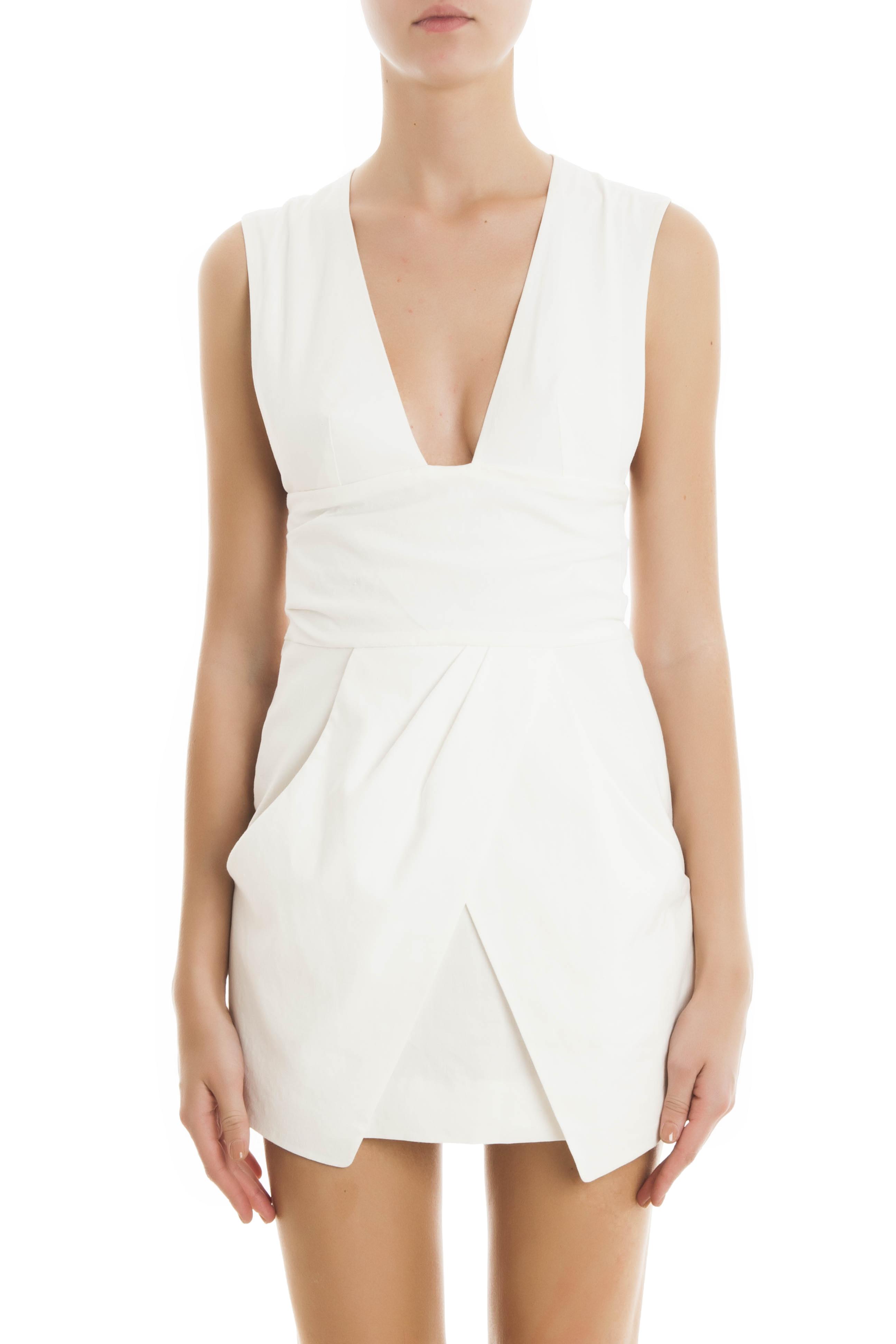 Isabel marant imba dress in white lyst for Isabel marant shirt dress