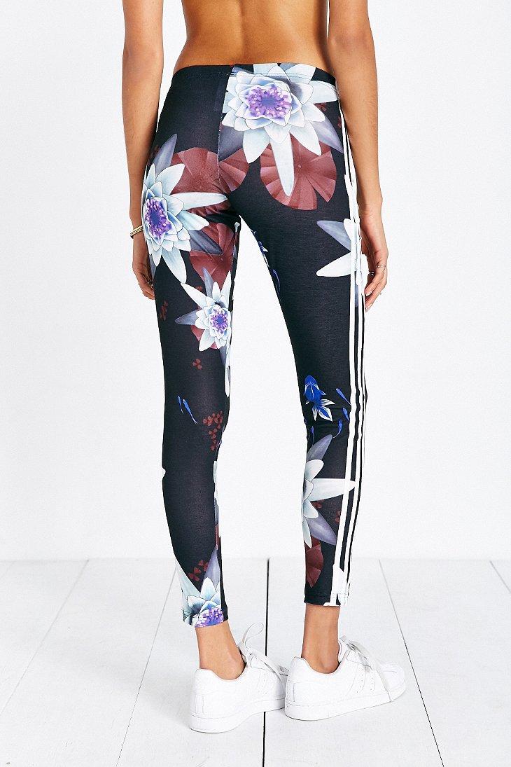 Lyst Adidas Originals Lotus Print Legging