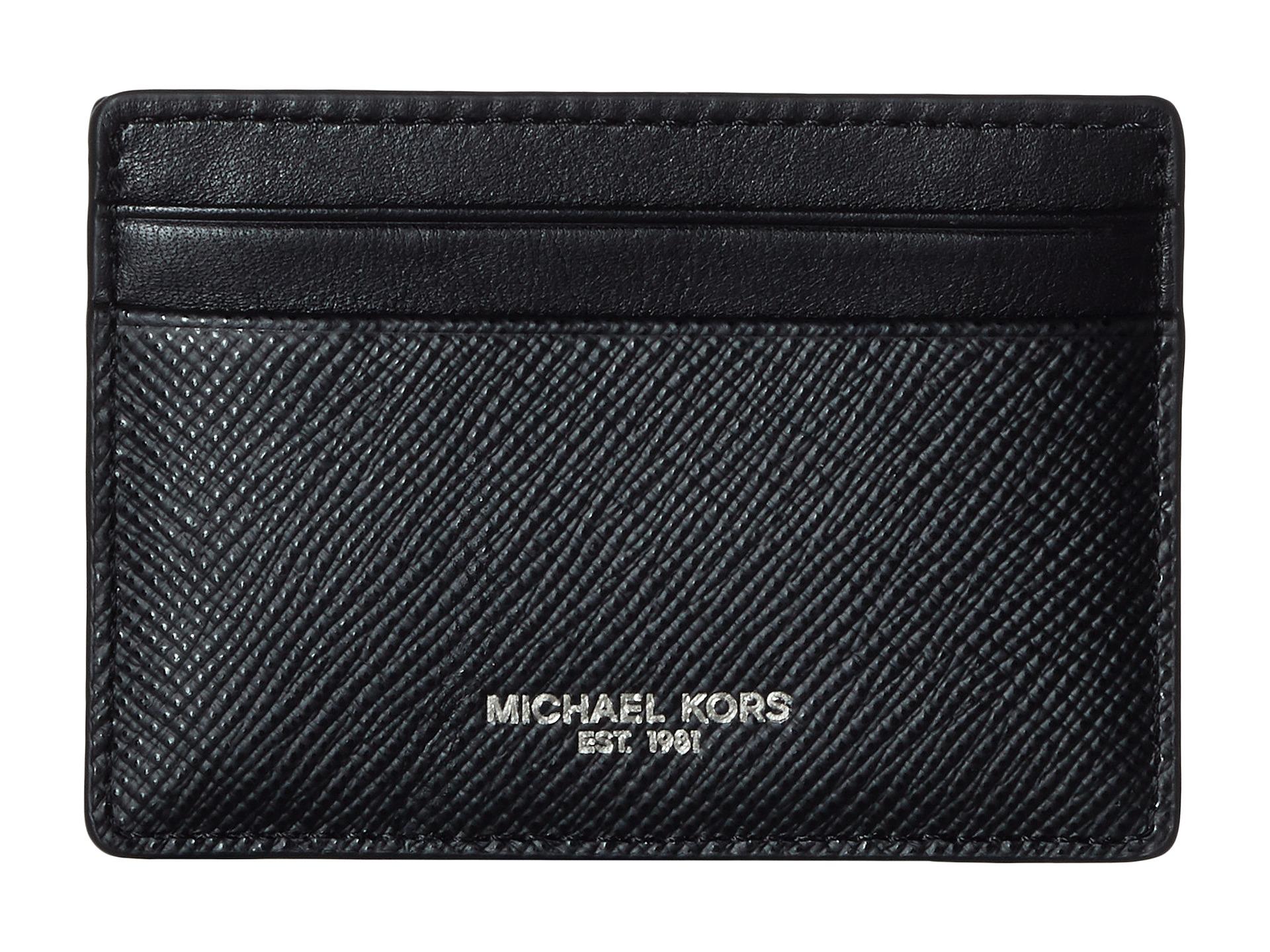 30759407da5120 Michael Kors Harrison Cross Grain Leather Card Case W/ Money Clip in ...