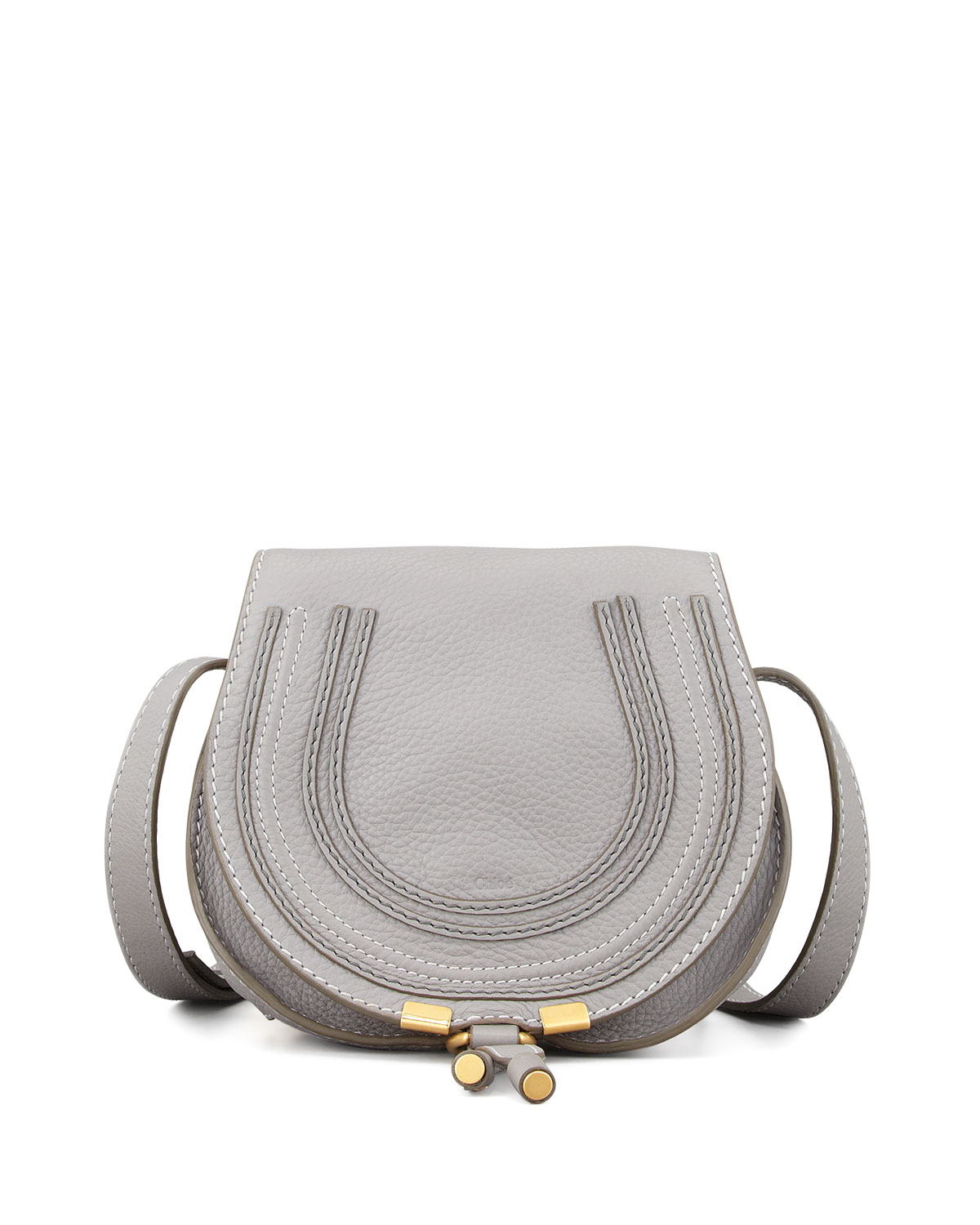replica chloe handbag - Chlo�� Marcie Mini Leather Cross-Body Bag in Gray (GREY) | Lyst