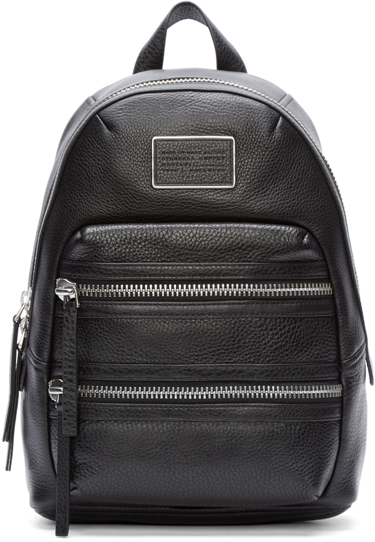 half price best place new & pre-owned designer Marc By Marc Jacobs Black Leather Domo Biker Backpack