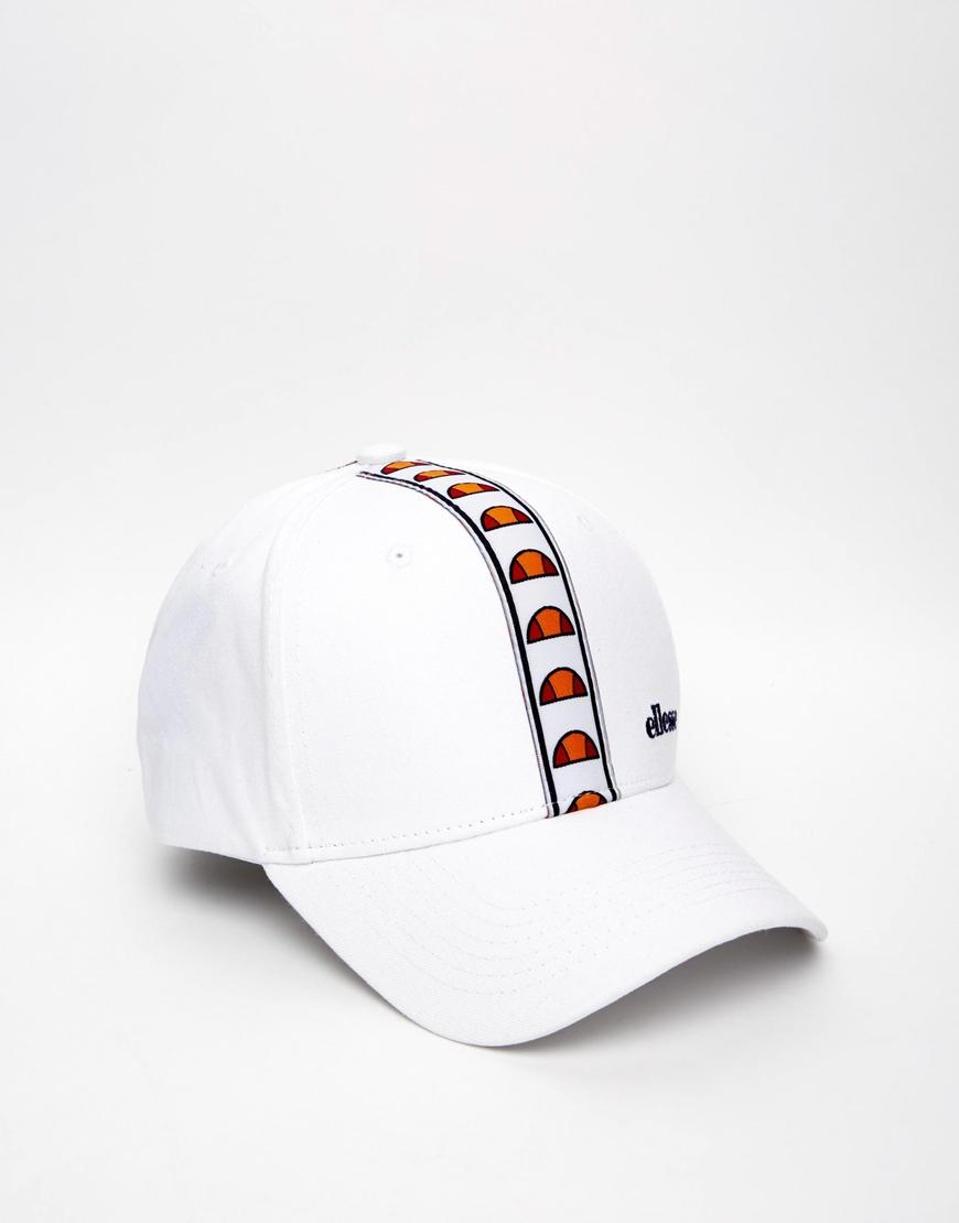 Lyst - Ellesse Taped Logo Baseball Cap in White for Men 511b4af013c