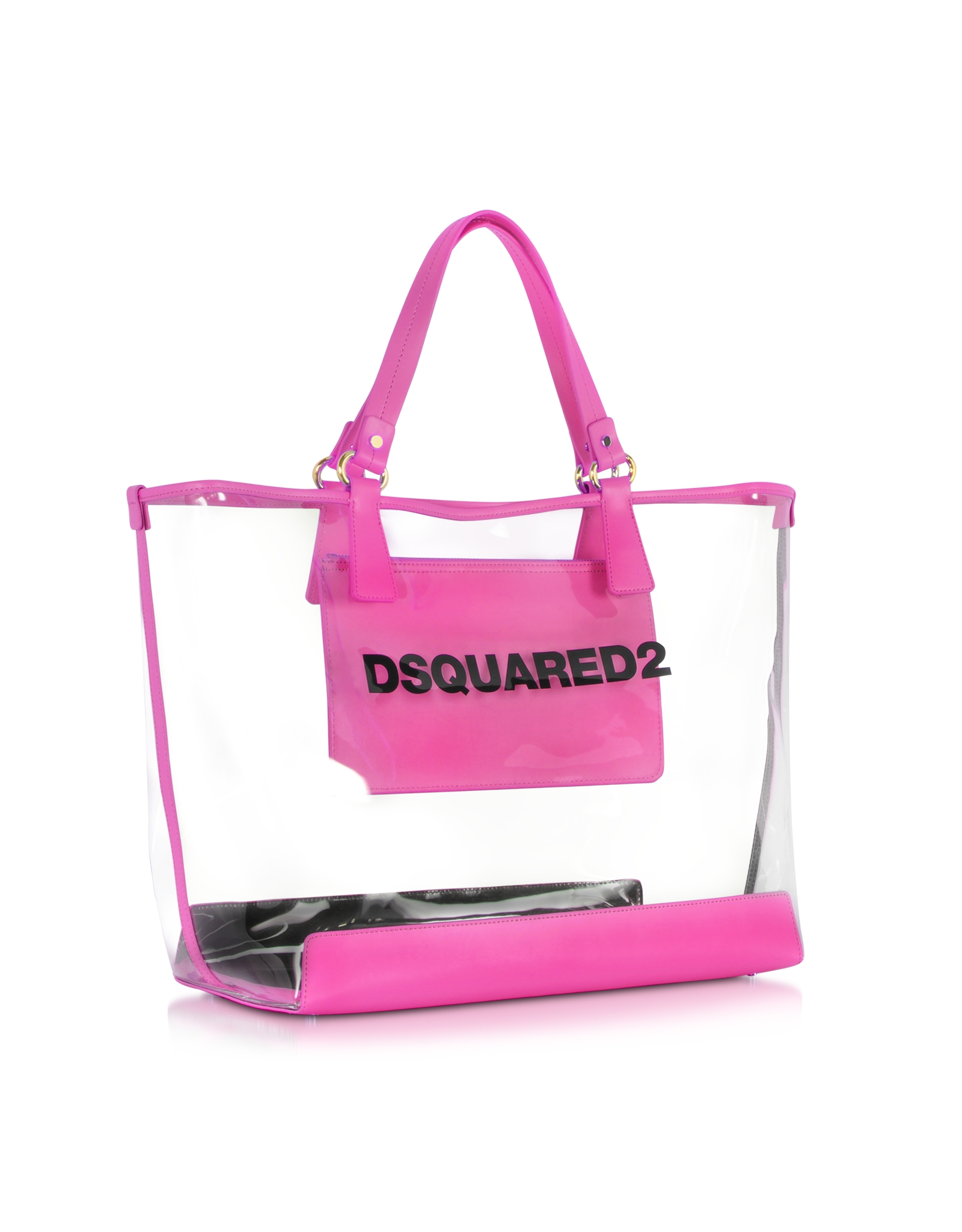 Dsquared² Mykonos Transparent Pvc And Fuchsia Tote | Lyst