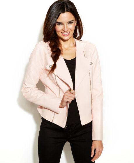 Bcbgmaxazria Paris Asymmetrical Quilted Fauxleather Jacket