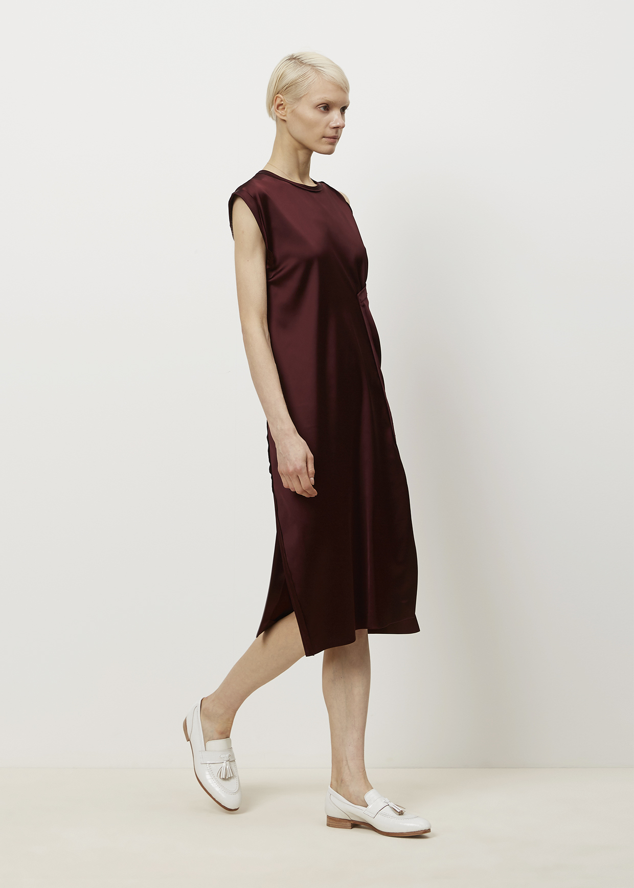 7eed7269ba1b Dress Lyst Studios Satin Catlin Acne Bordeaux nqCxqw8X