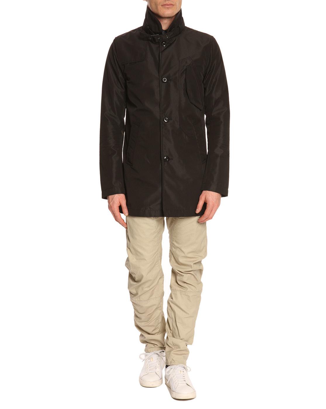 g star raw mas garber black trench coat in black for men lyst. Black Bedroom Furniture Sets. Home Design Ideas