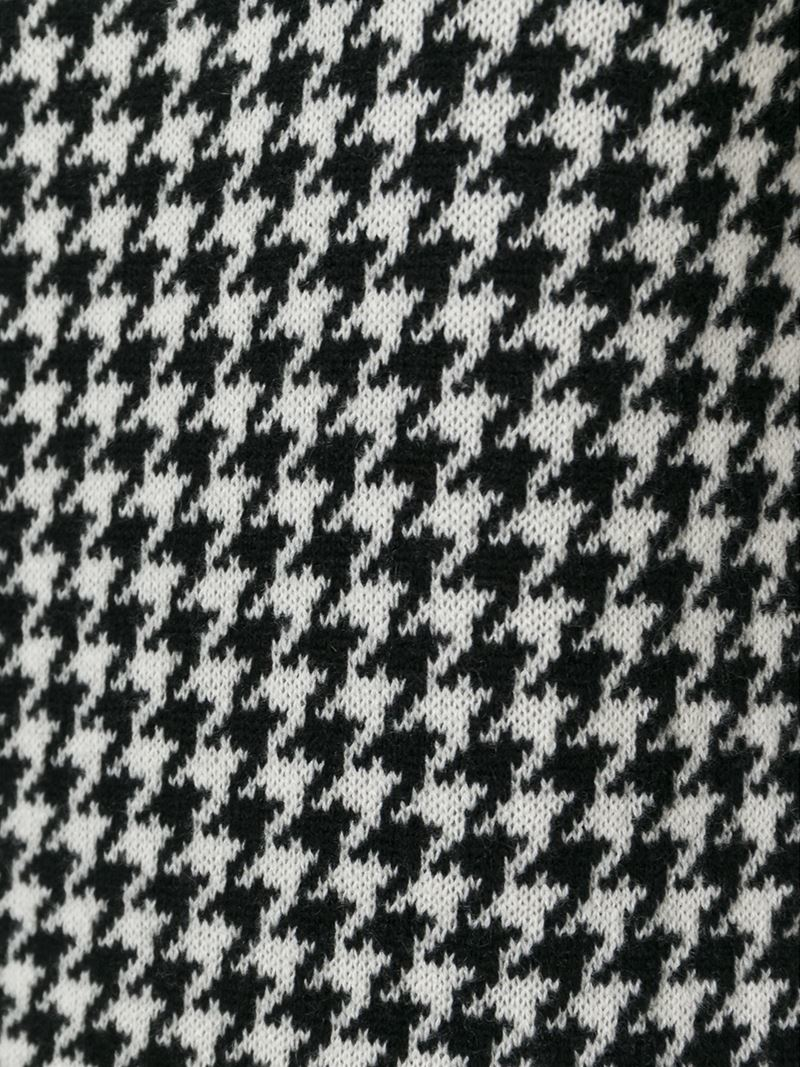Houndstooth Knitting Pattern In The Round : Ralph lauren black label Houndstooth Knit Dress in Black Lyst
