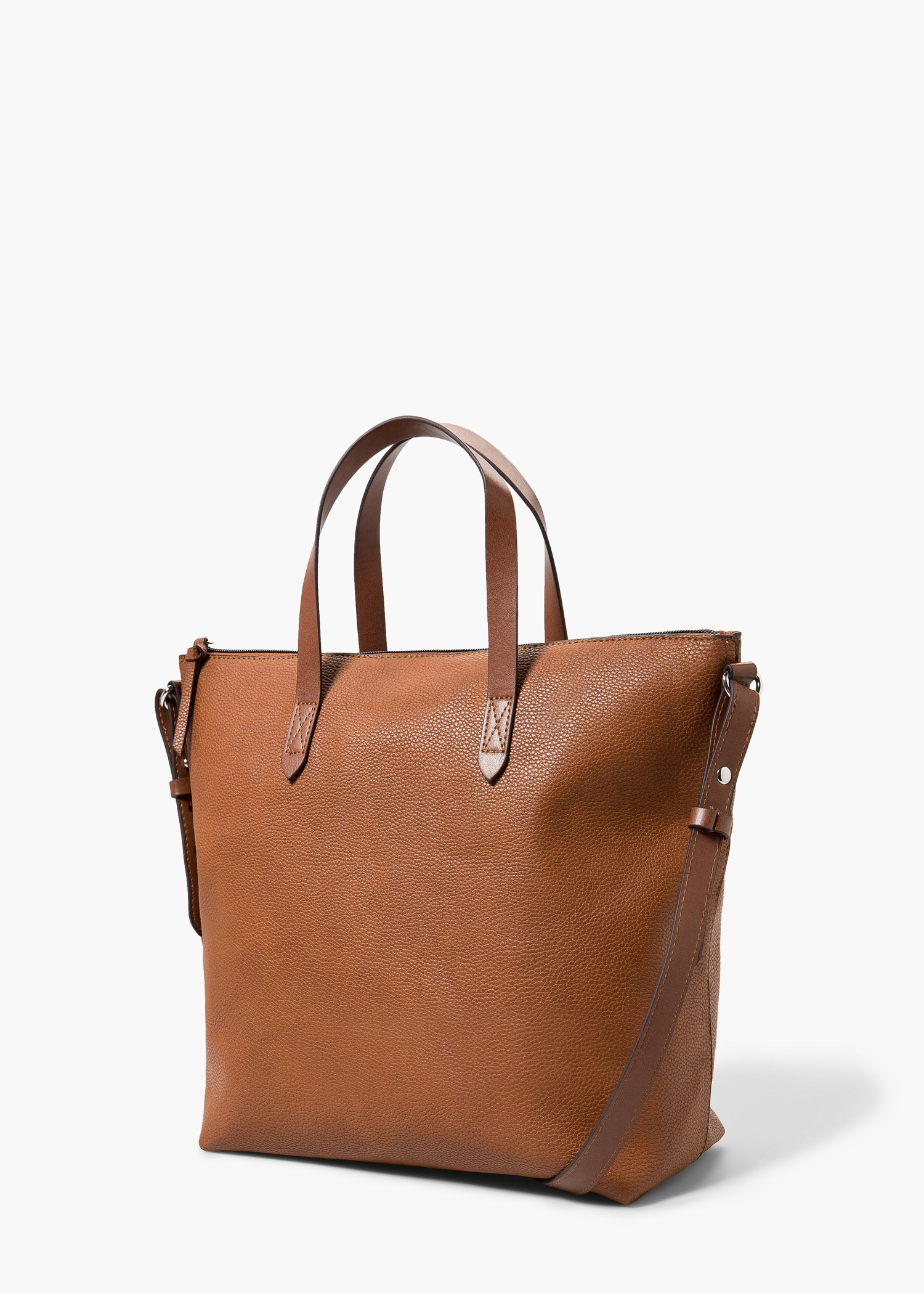 Elegant Mango Small Tote Bag In Red  Lyst
