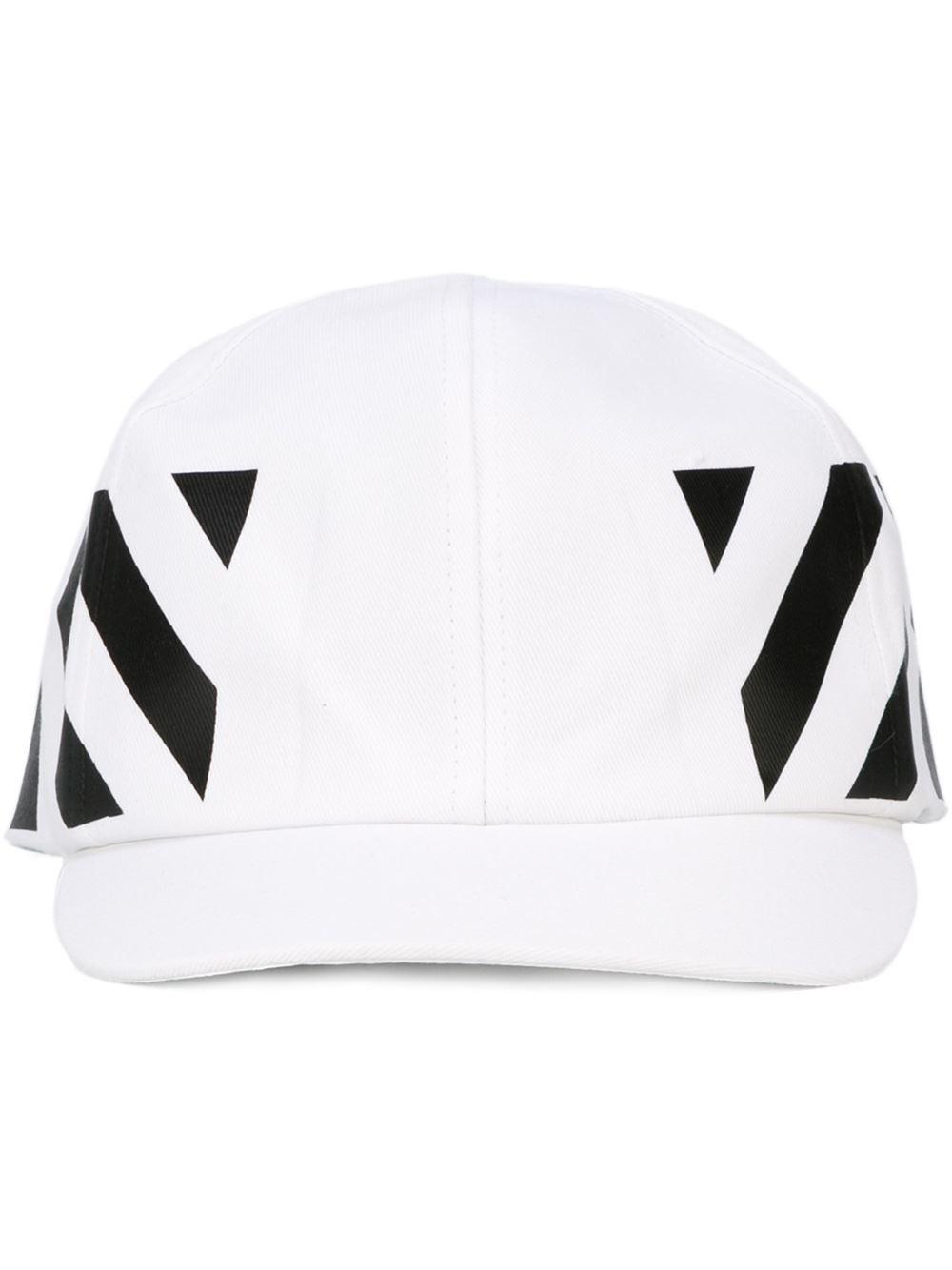 69388081cfd Lyst - Off-White c o Virgil Abloh Striped Baseball Cap in White for Men