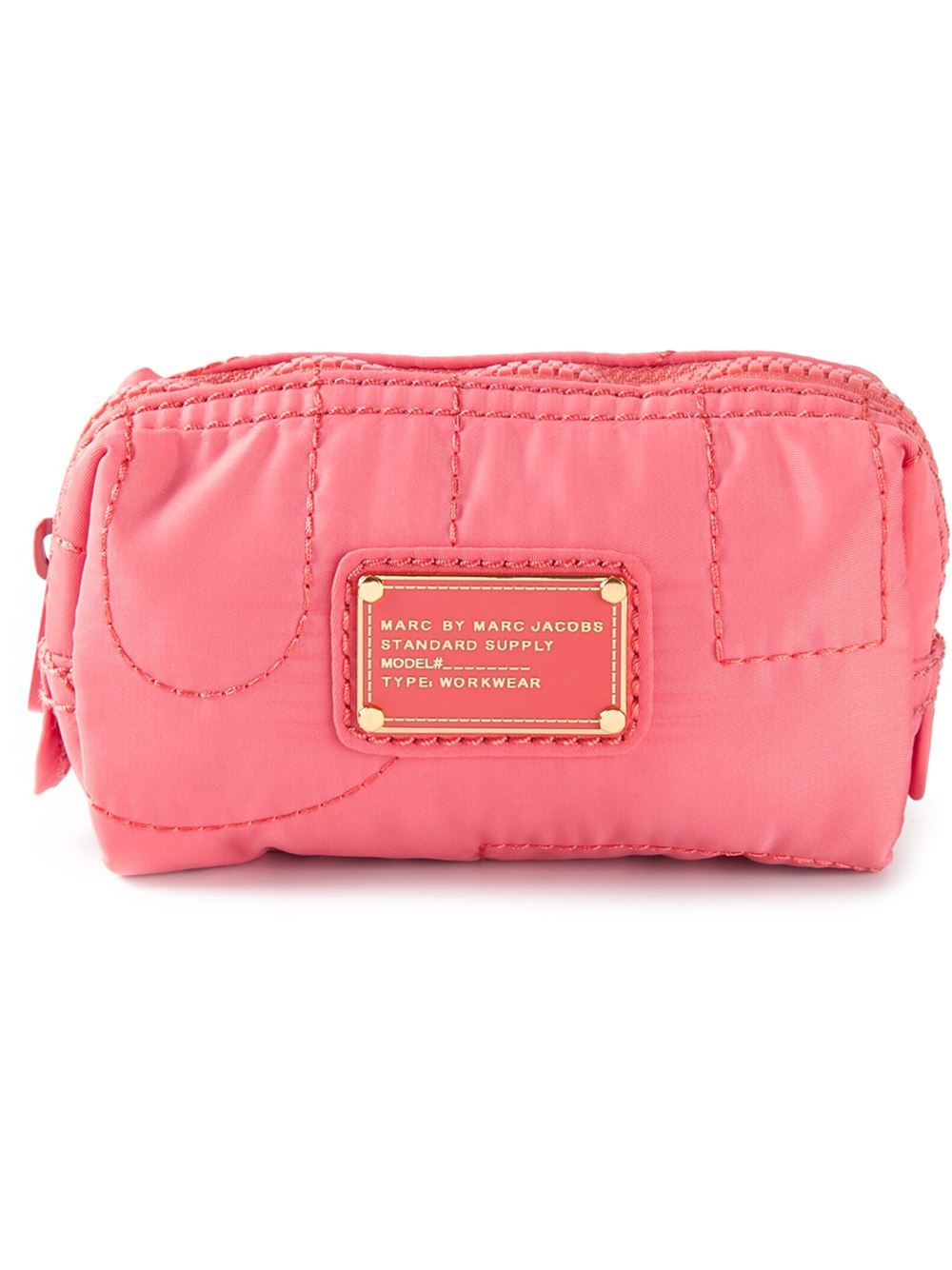 Marc by marc jacobs Quilted Cosmetic Bag in Pink | Lyst : quilted cosmetic bags - Adamdwight.com
