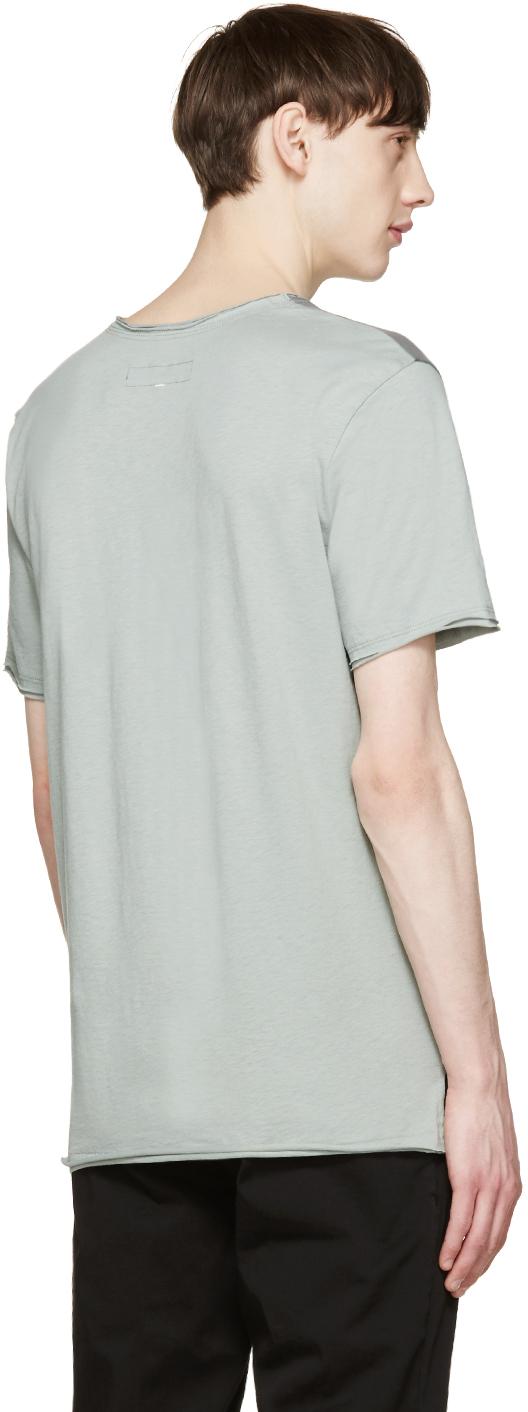 Rag bone grey colorblock merrick t shirt in gray for men for Rag and bone t shirts