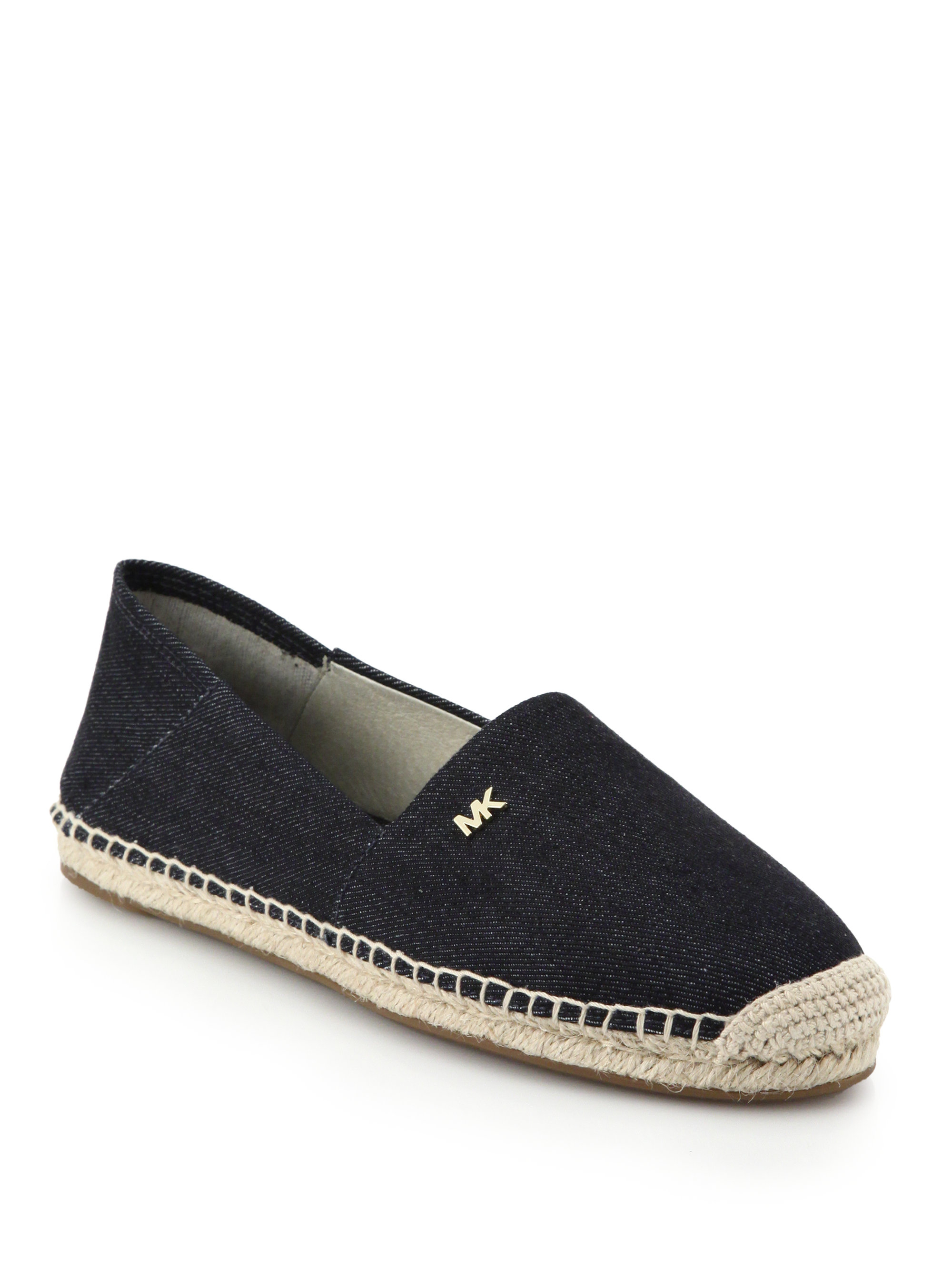 michael michael kors denim espadrilles in blue lyst