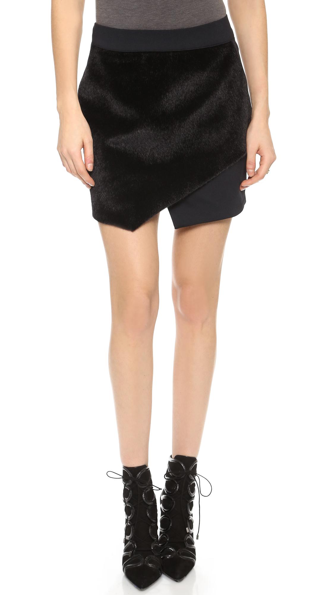 be58981ac598 David Lerner Asymmetrical Skirt - Black in Black - Lyst