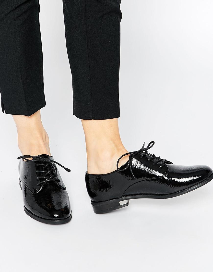 99c548cdf0b Lyst aldo marwen black patent brogue flat shoes in black jpg 870x1110 Black  patent flats for