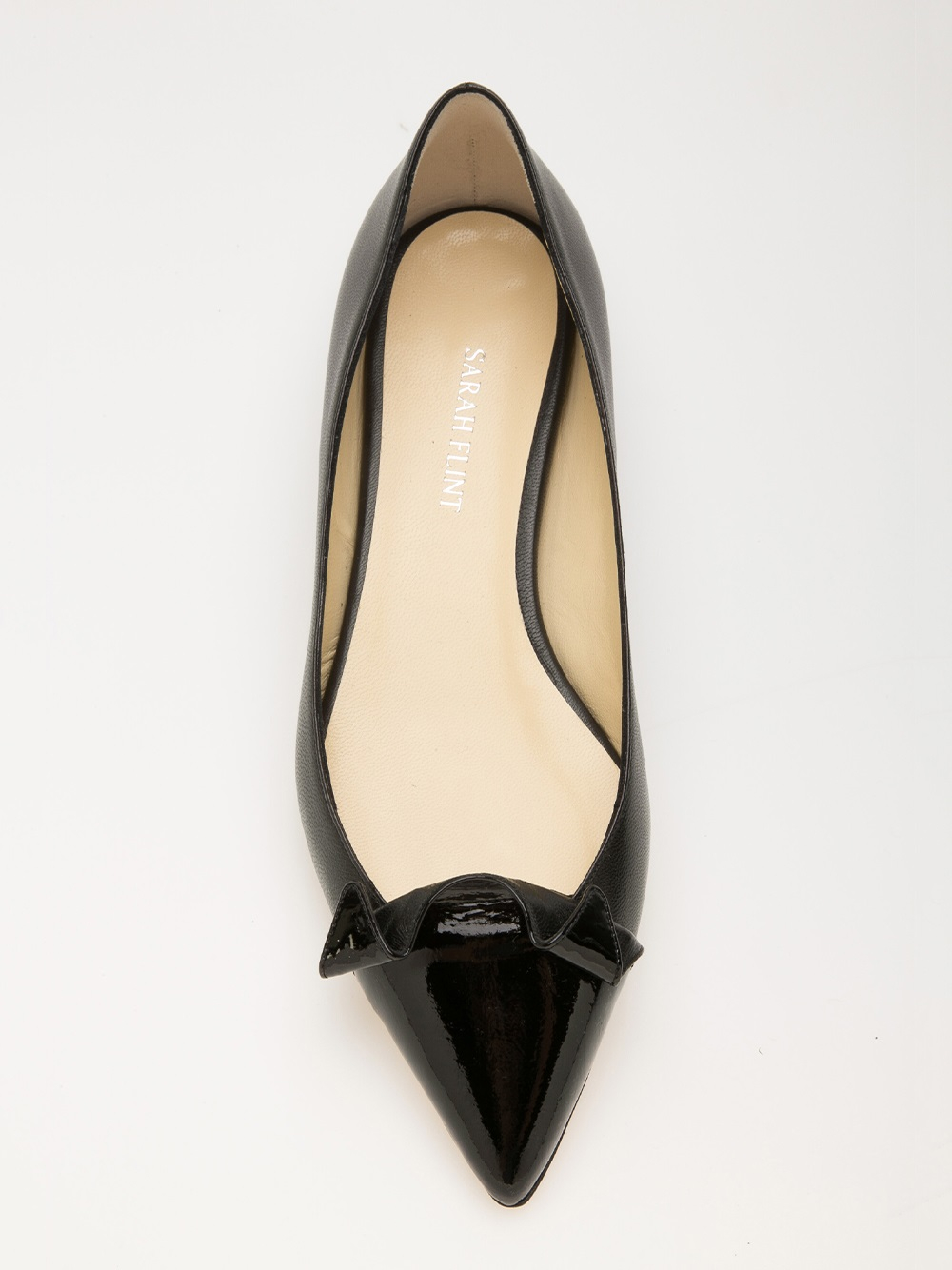 Lyst Sarah Flint Lisa 10mm Flat In Black