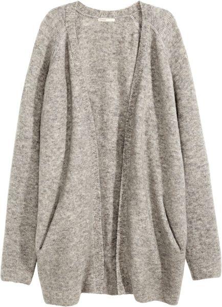 Grey Marl H&m Cardigan in