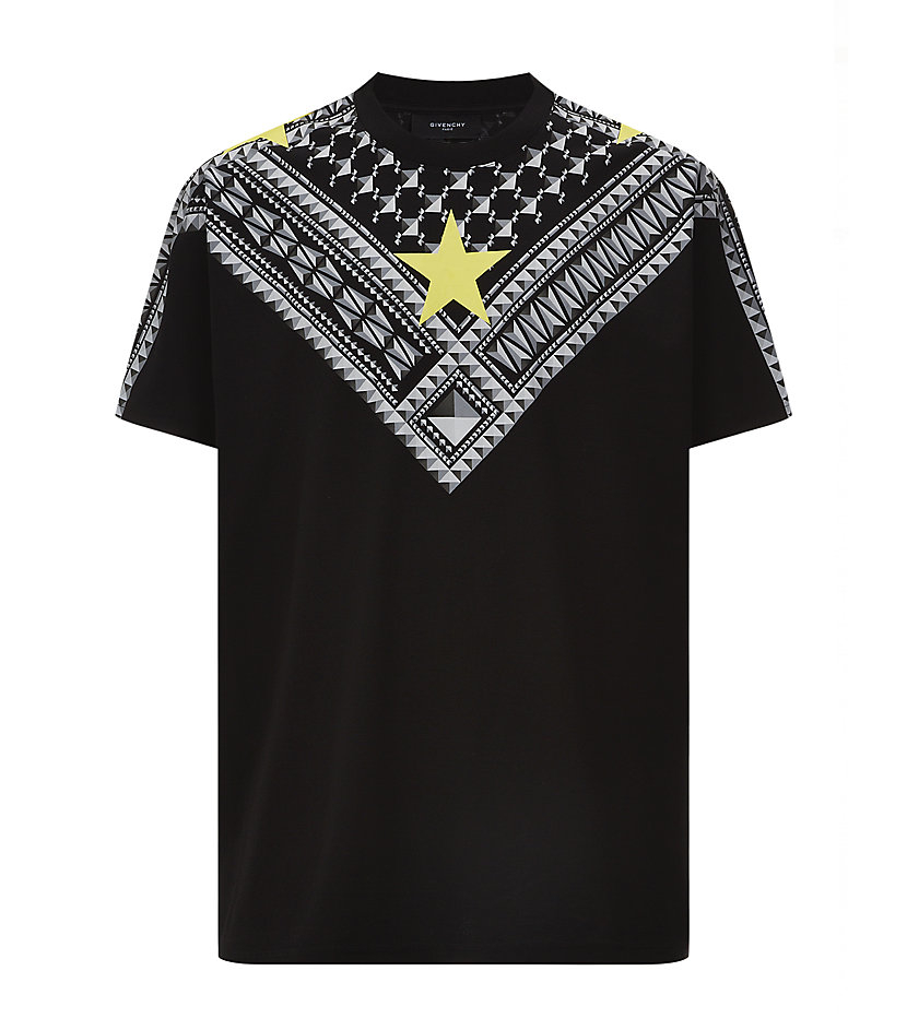 Givenchy stud and star tshirt in black for men lyst for Givenchy star t shirt