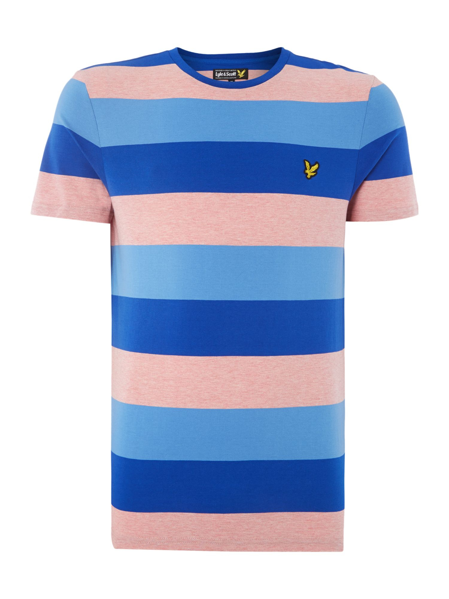 Lyst lyle scott rugby stripe crew neck regular fit t for Pink and purple striped rugby shirt