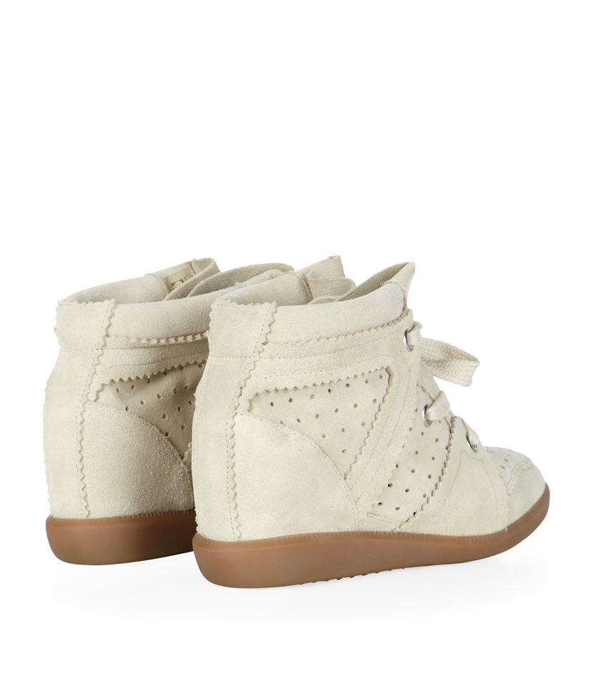 isabel marant toile 39 bobby 39 concealed wedge sneakers in beige nude neutrals lyst. Black Bedroom Furniture Sets. Home Design Ideas