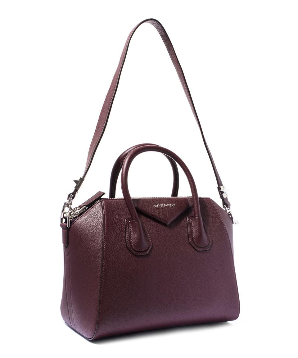 Lyst - Givenchy Small Burgundy Antigona Sugar Pebbled Leather Bag in ... d411b7542f0cd