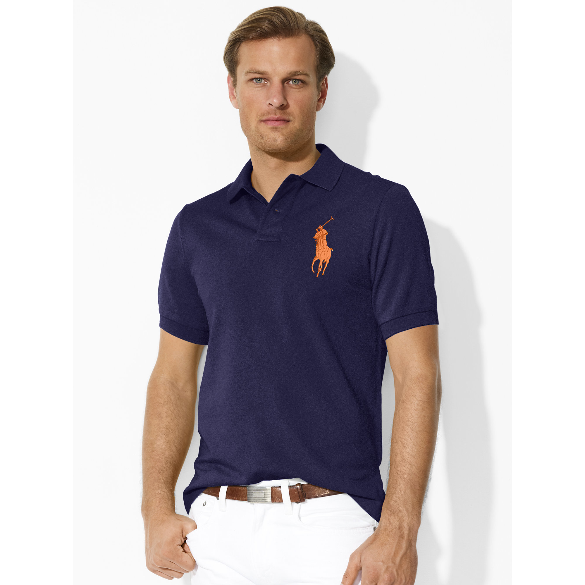 polo ralph lauren classic fit big pony polo in blue for. Black Bedroom Furniture Sets. Home Design Ideas
