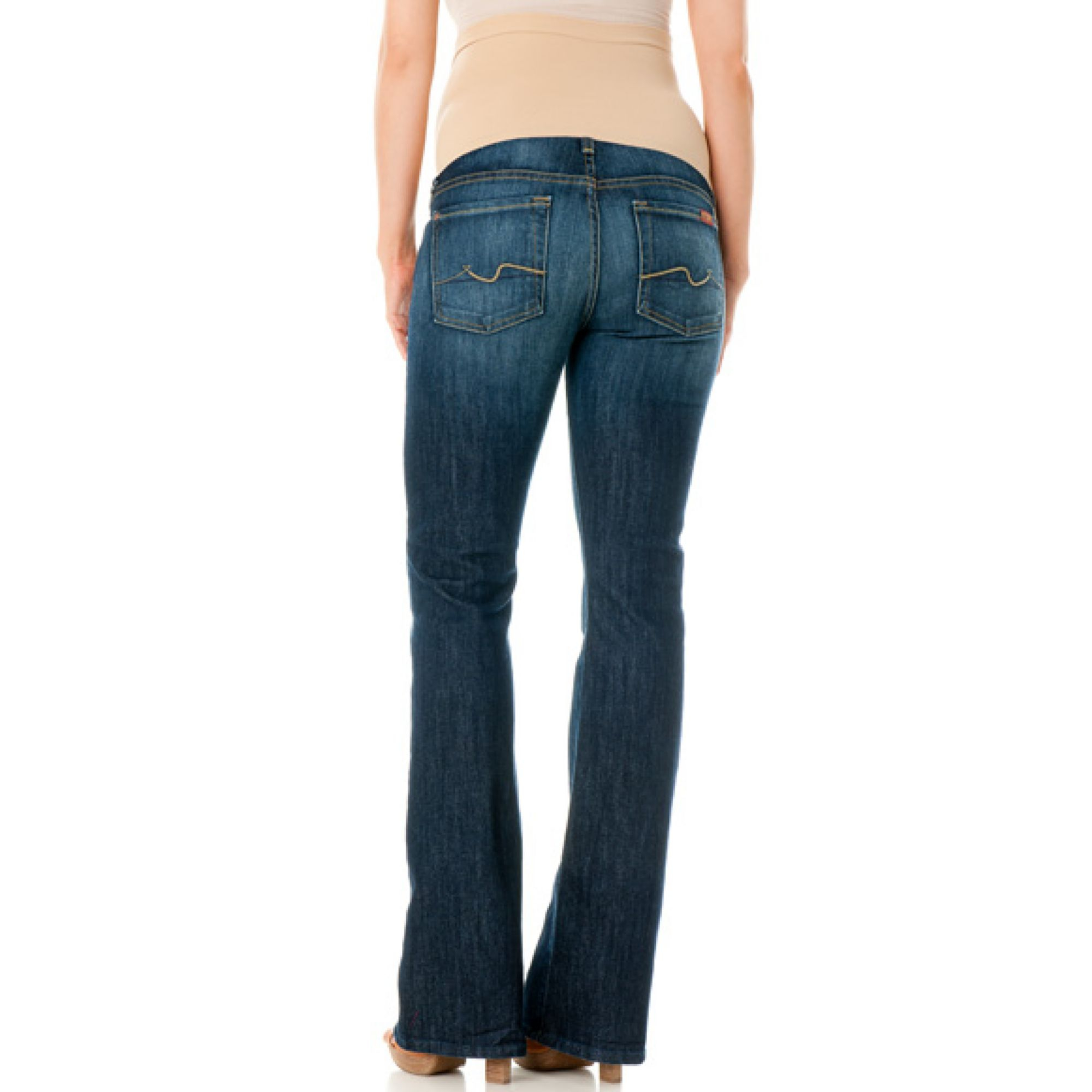 d8478a675dd4e 7 For All Mankind A Petite Bootcut Maternity Jeans New York Dark Wash in  Blue - Lyst