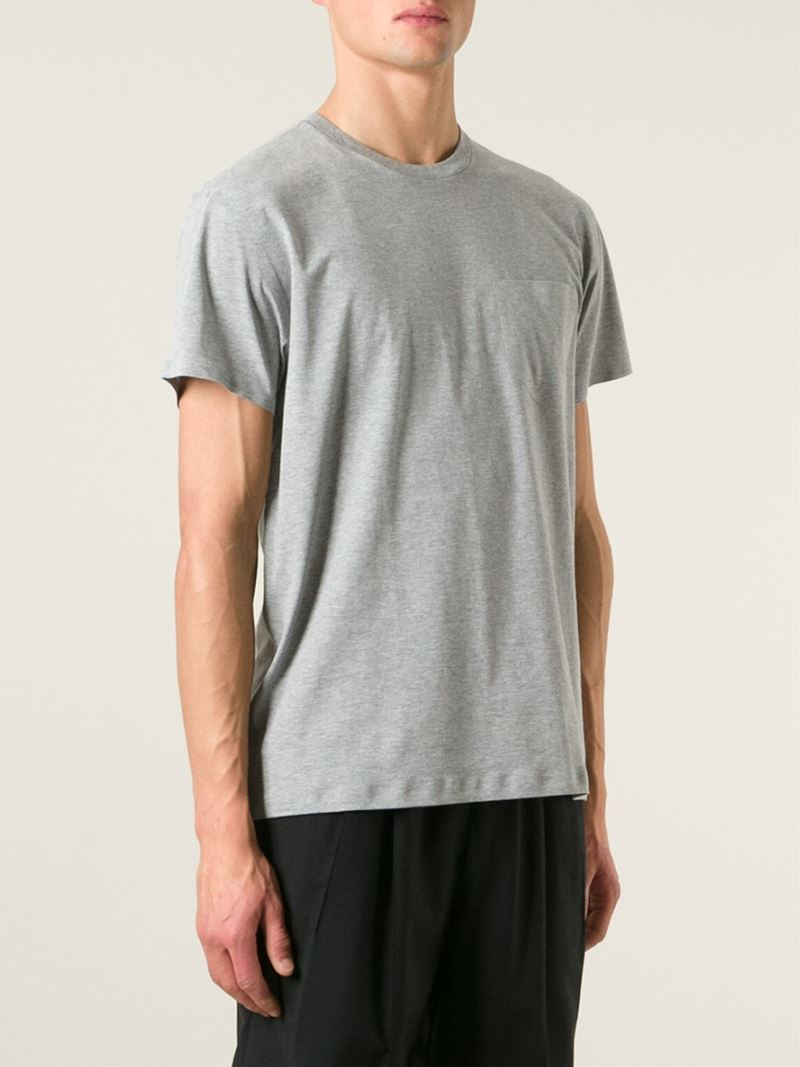 Lyst t by alexander wang crew neck t shirt in gray for men for Alexander wang t shirts