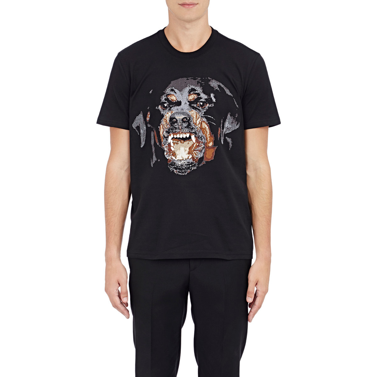 Givenchy Rottweiler Embroidered T Shirt In Black For Men