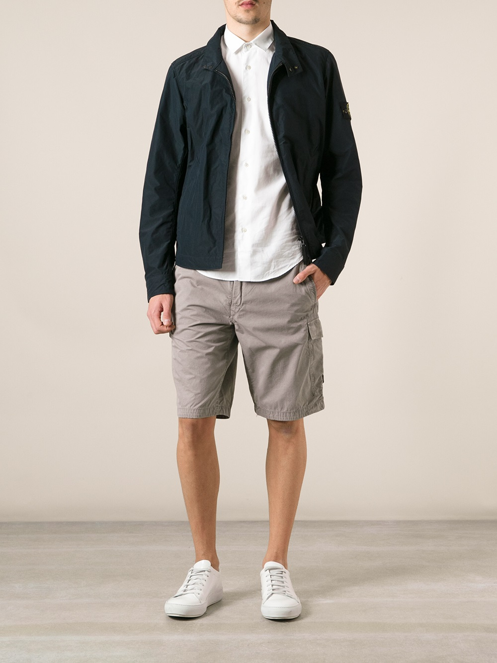 Lyst Stone Island Bermuda Shorts In Gray For Men