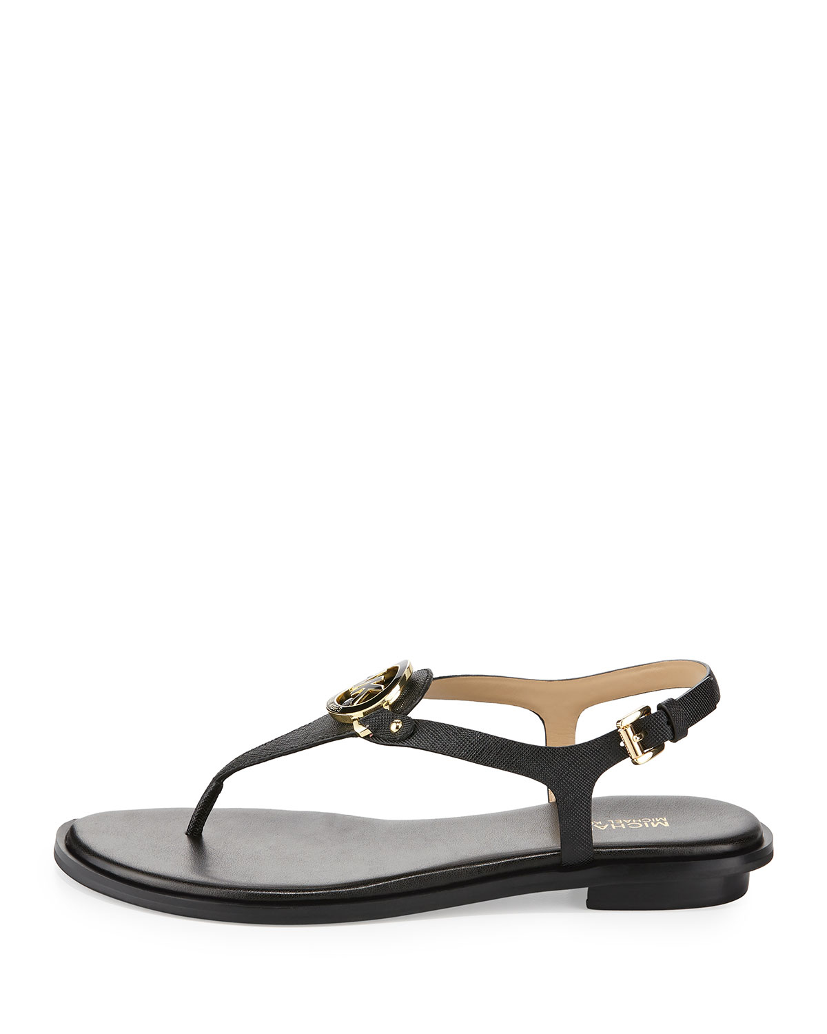 3e1a3401478 Lyst - MICHAEL Michael Kors Lee Leather Flat Thong Sandal in Black