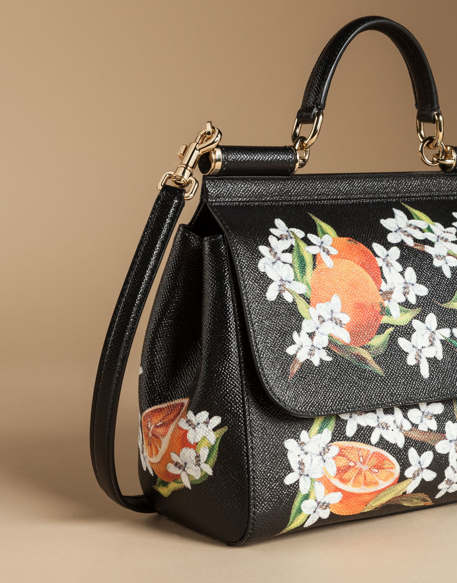 d56a62d515 Lyst - Dolce   Gabbana Medium Sicily Bag In Printed Dauphine Leather ...
