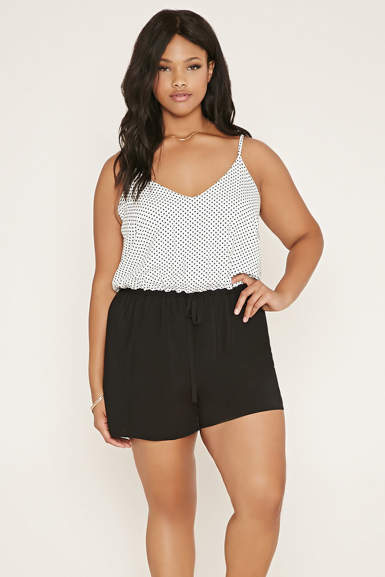 4a89159f2e6 Lyst - Forever 21 Plus Size Combo Romper in Natural