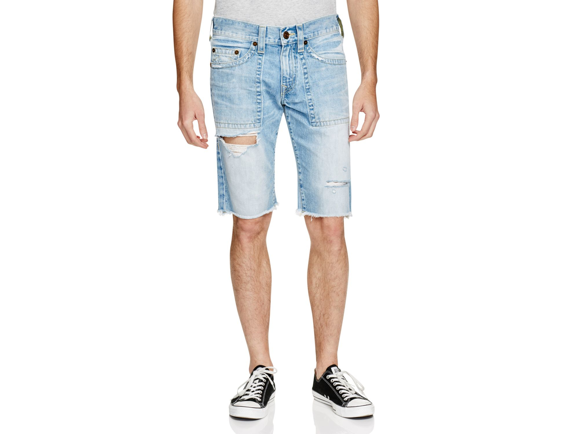 True religion Ricky Relaxed Fit Denim Shorts In Down Rock in Blue ...
