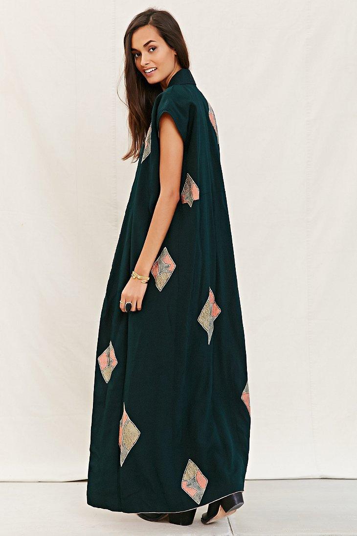 Urban renewal Recycled Sleeveless Kimono Jacket in Black | Lyst