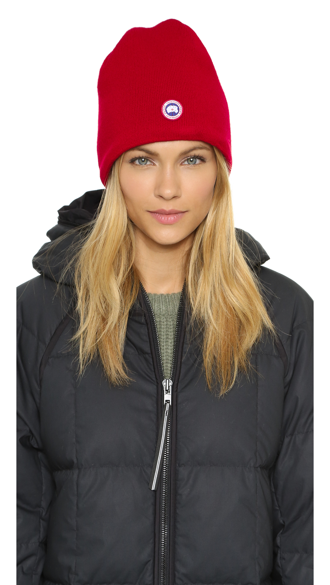 Lyst - Canada Goose Merino Wool Beanie - Black in Red 58b3e39224