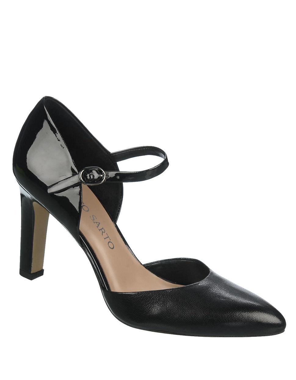Franco Sarto Black Patent Leather Shoes