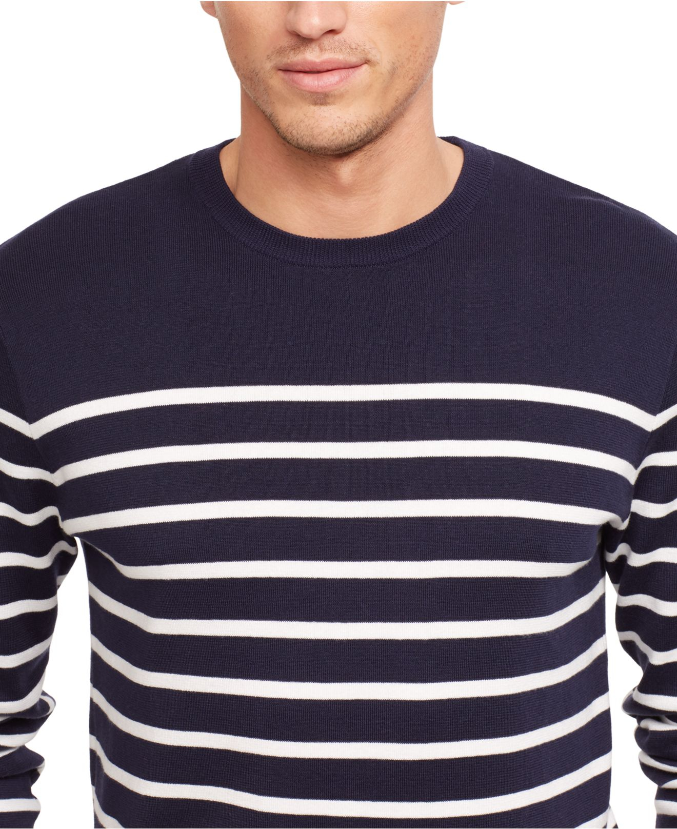 Polo ralph lauren Men's Striped Pima Sweater in Blue for Men | Lyst
