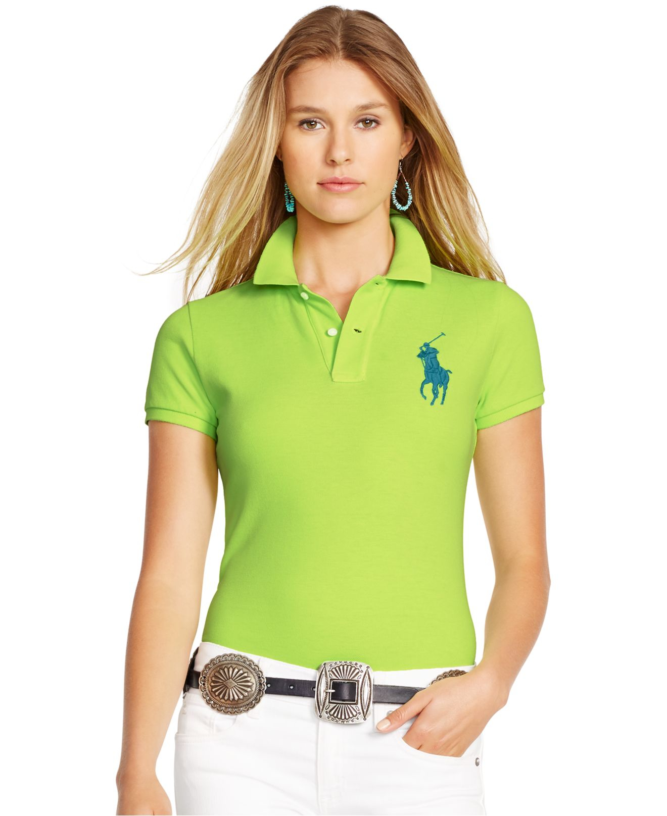 47e181bf clearance ralph lauren womens skinny fit polo shirt b3727 e3878