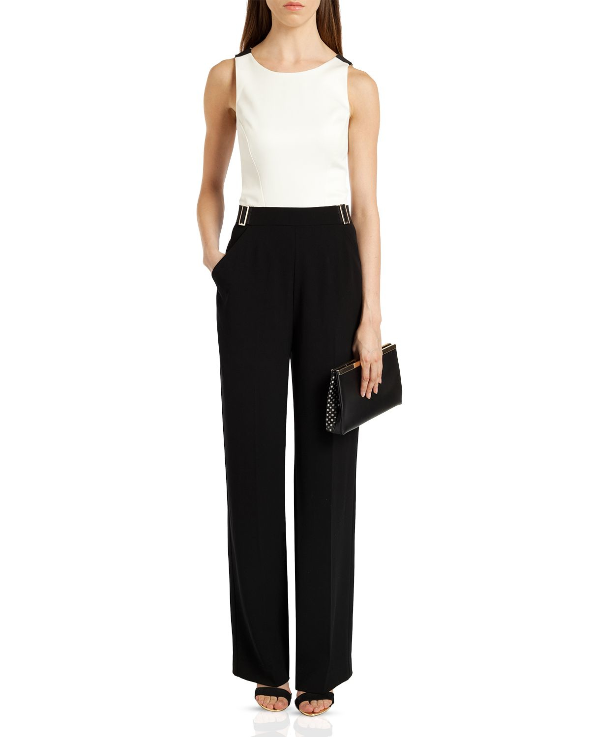 7b548d73fd4a Lyst - Ted Baker Lydya Crossover Back Jumpsuit in Black