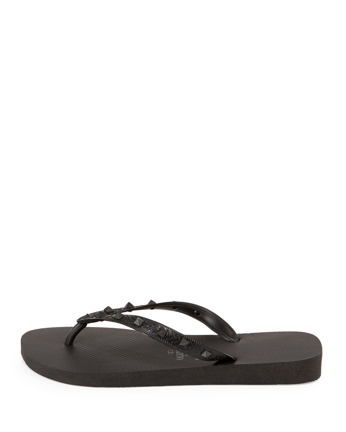 valentino by havaianas rockstud flip flop in black lyst. Black Bedroom Furniture Sets. Home Design Ideas