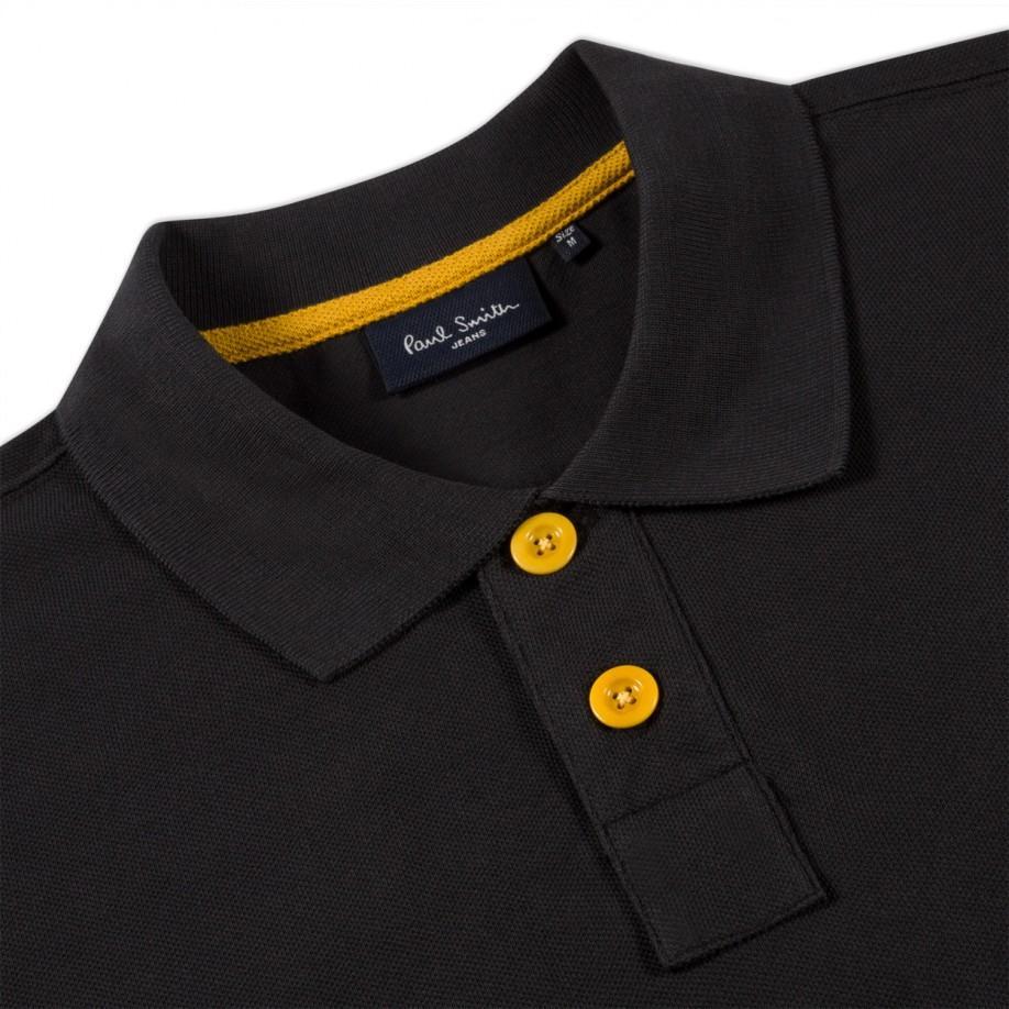 Lyst - Paul Smith Black P Logo Pima-Cotton Polo Shirt in Black for Men 04fa4b531b31