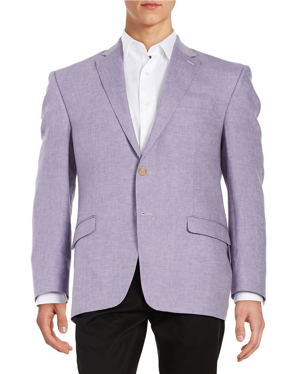 lauren by ralph lauren purple two button linen blazer for men lyst. Black Bedroom Furniture Sets. Home Design Ideas