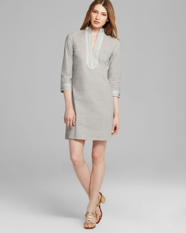 3b4cb9e7943a Lyst - Tory Burch Tory Mini Dress in Gray