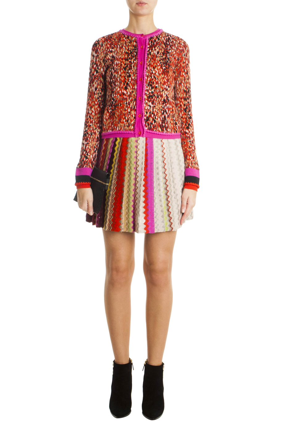 Missoni Pleated Mini Skirt in Pink | Lyst